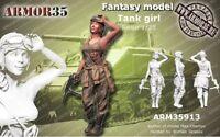 1/35 Resin Figure Model Kit Sexy Girl Soldier (no TANK) Unassamble Unpainted 514