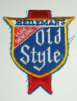 Vintage Heileman's Genuine Old Style Beer Distributor Cloth Patch 1970's NOS New
