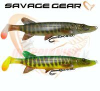 Savage Gear Fishing Lures 4D PIKE SHAD 20cm 65g Swim Baits Pike Zander Predator