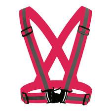 Hi-Vis Vest Safety Kids Adults Security Reflective Straps Belt Night Running Use