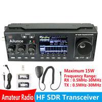 Ailunce HS1 HF SDR HAM Transceiver Transmit Receiver TUNE/VFO /SPLIT DSP+Mic