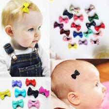 10pcs New Baby Toddler Girl Hair Clips Ribbon Bow Kids Satin Bowknot Headband