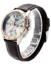 Casio MTP-1374L-7 Original Analog Leather Mens Watch Water Resistant MTP-1374L