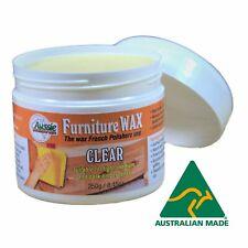 Aussie Furniture Care Beeswax Furniture Polish Paste Wax Clear 250gr