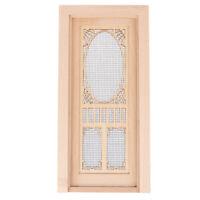 1/12 Dollhouse Miniature Wood Hollow Screen Door Unpainted Furniture Model  cr