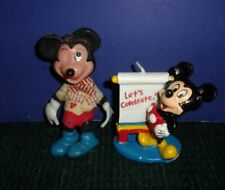 2 Vintage Collectible Mickey Mouse-  Christmas Ornament & Mickey Candle