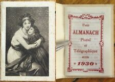 Jeanne Lucie Louise Cover 1930 French Pocket Calendar/Almanach - Vigee Lebrun