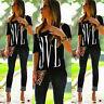 US Plus Size Off Shoulder Womens Summer Blouse Ladies Short Sleeve Tops T-Shirt