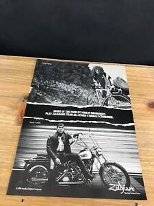 1989 VINTAGE 8X11 PRINT AD FOR ZILDJIAN CYMBALS TOMMY ALDRIDGE ON A COLNAGO BIKE