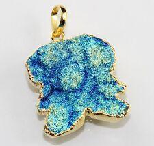 24k Gold Plated Pendant Jewelry D-1466 Super Sale Shinning Titanium Coated Druzy