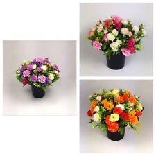 grave Artificial/Silk flower arrangement in grave memorial pot cremvase HandMade