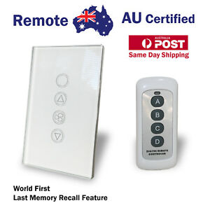 Smart Home Remote Touch Switch Home Automation 6 Speed Fan Controller + Switch