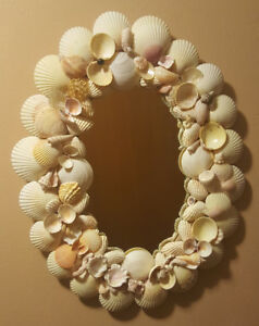 Gorgeous Seashell Mirror Beach Decor Shell Mirror OOAK