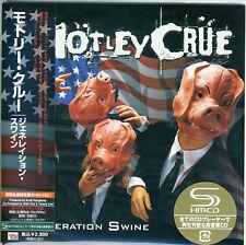 Motley Crue - Generation Swine Japan Mini LP SHM-CD Limited +5 Bonus Tracks !