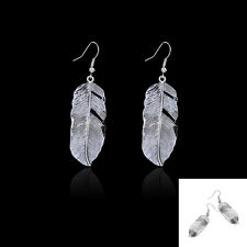 Beautiful Hot Retro Bohemian Chic Feather Alloy Design  Dangle Ear Hook Earrings