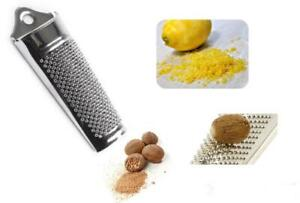 Tala Stainless Steel Nutmeg Grater Lemon Orange Zester Parmesan Cheese Grater