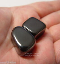 2 x MAGNETIC HEMATITE TUMBLED STONES Wicca Reiki Witch Spell Pagan New Age Goth