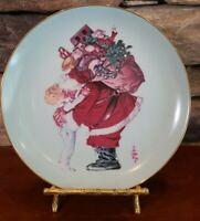 """J.C. Leyendecker 1977 """"Santa Loves You"""" Limited Edition Plate Vintage"""