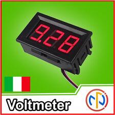 Voltmetro digitale da pannello 5-30V Voltmeter Tester Tensione Auto moto camper