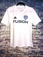 Adidas Climalite White Fusion FC Soccer Jersey #70 Size M NWT Rare🔥