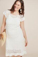 $220  Anthropologie  Brittania Crochet Midi Dress size 2X new nwt