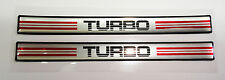Vintage 80's 90's Automotive Door Handle Insert Accent Trim TURBO RED