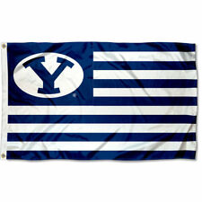 Brigham Young University Cougars Stars and Stripes Nation USA Flag