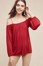 Anthropologie Taven Off-the-Shoulder Top NWT new size red Large