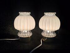 Vintage 2x Graewe Nachttischleuchte Glas 60er Jahre