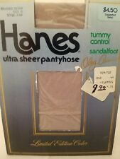 NOS Hanes Ultra Sheer Pantyhose style 710F Brushed Silver size D Tummy Control