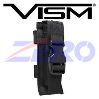 VISM Single Pistol Double Stack Magazine Clip Pouch MOLLE Gear PALS Belt Black