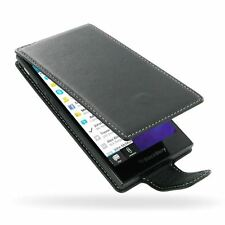 Pdair Deluxe Leather Flip Type Case Carry Cover for BlackBerry Z3 - Black