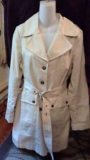 Motto Button Down Cream Jacket Trench Coat Belted  S-NWT Nice for Spring