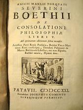 Boethius. De Consolatione Philosophiae... 1721 Old Calf