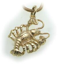 colgante signo del Zodíaco Cáncer Oro Real 333 MACIZO 8kt Signos del zodiaco