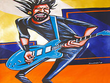 DAVE GROHL PRINT poster foo fighters have it all cd evanescence gibson guitar lp