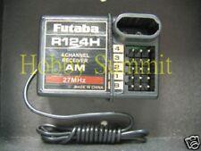 Futaba  R124H 4-Channel  AM Radio Receiver 27 MHz  Re R/C Tractor Truck Tank 4WD