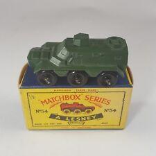 Matchbox Moko Lesney #54 Saracen Carrier military army truck Mib