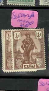 MALTA  (PP2405B) MELITA   1/4D     SG 123-123A       MOG