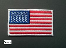 US USA American Flag patch WHITE BORDER ***BUY 2 GET 1 FREE***