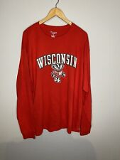 Champion Men's Size Xl Wisconsin Badgers Long Sleeve Red T-Shirt Nwot
