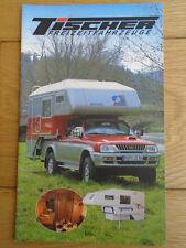 Tischer Motorhome range brochure c1995 German text