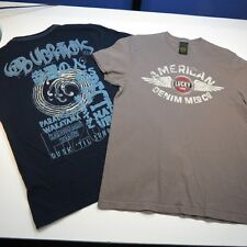 LOT OF 2 LUCKY BRAND JEANS TEE T SHIRT SHIRTS Sz Mens S