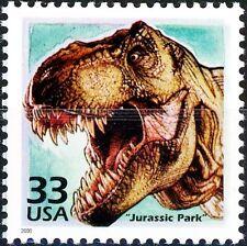 Jurassic Park Tyrannosaurus Rex Scarce Mint MNH US Postage Stamp Scott's 3191K