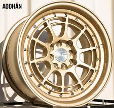 AODHAN AH04 16x8 4x100 / 4x114.3 +15 Gold (PAIR) wheels