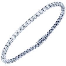 10 Carat Ladies Diamond Bracelet Round Brilliant Cut Diamond 14k Gold