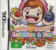 Cooking Mama World Hobbies & Fun, Nintendo DS game Complete, Used