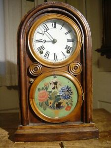"ANTIQUE RARE E INGRAHAM 1874 ""VENETIAN"" ROSEWOOD SHELF PARLOR CLOCK WORKING WELL"