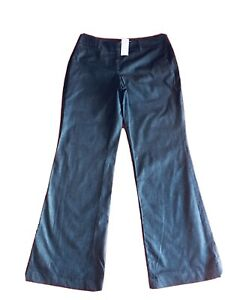 Ann Taylor LOFT Dark Gray Signature Pants Boot Leg Size 4P New Without T