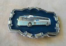 Vtg 1980 Bus Enamel belt buckle The Great American Buckle Co Limited Edition